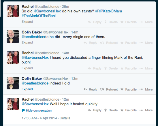 My Twitter conversation with Colin Baker