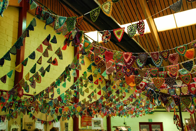 image of crochet bunting at Yarndale