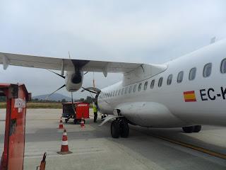 El avión de Air Europa Madrid-Vigo a su llegada a Peinador