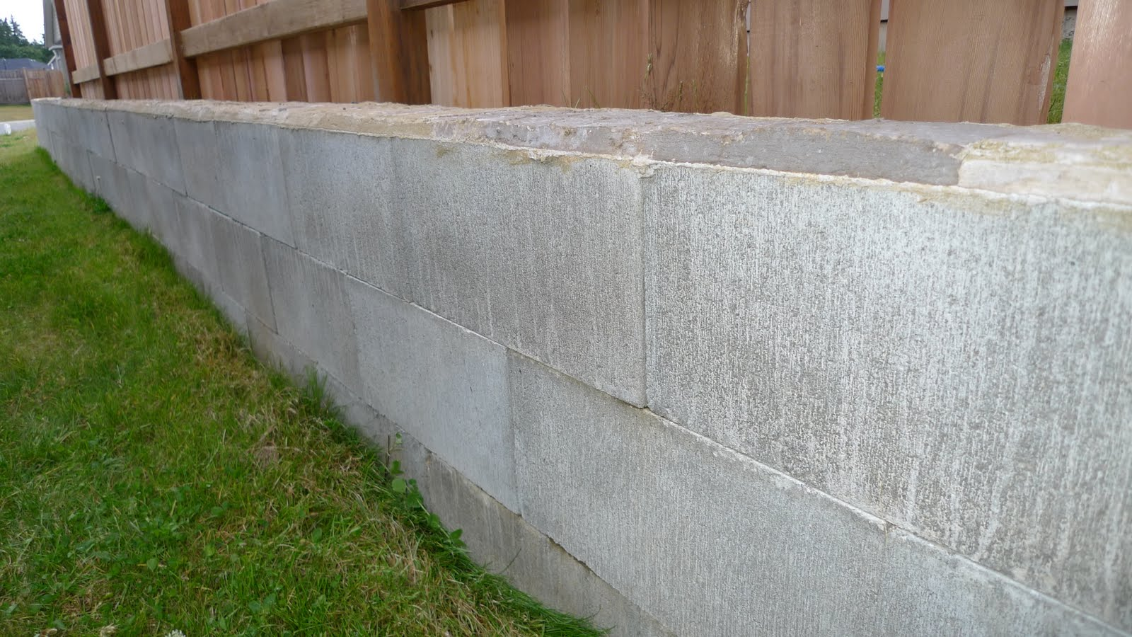 The continuing saga of the new home owner dry stacked Cinder block retaining wall