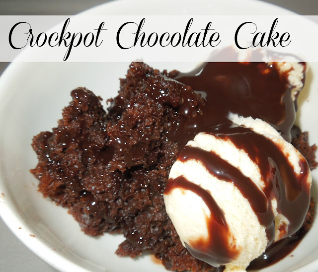 Crockpot Chocolate Cake, it's the moistest cake I've ever had and perfect for company! #slowcooker #crockpot #crockpotchocolatecake #cake