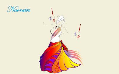 Navratri-night-girl-playing-dandiya