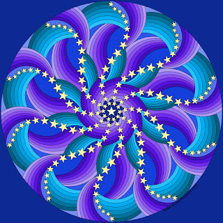 Star mandala- with a blank version to color