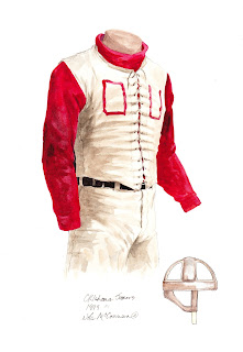 1899 University of Oklahoma Sooners football uniform original art for sale