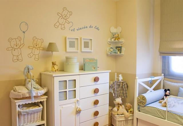 32 propuestas originales para una habitaci n infantil o - Como pintar una pared ya pintada ...