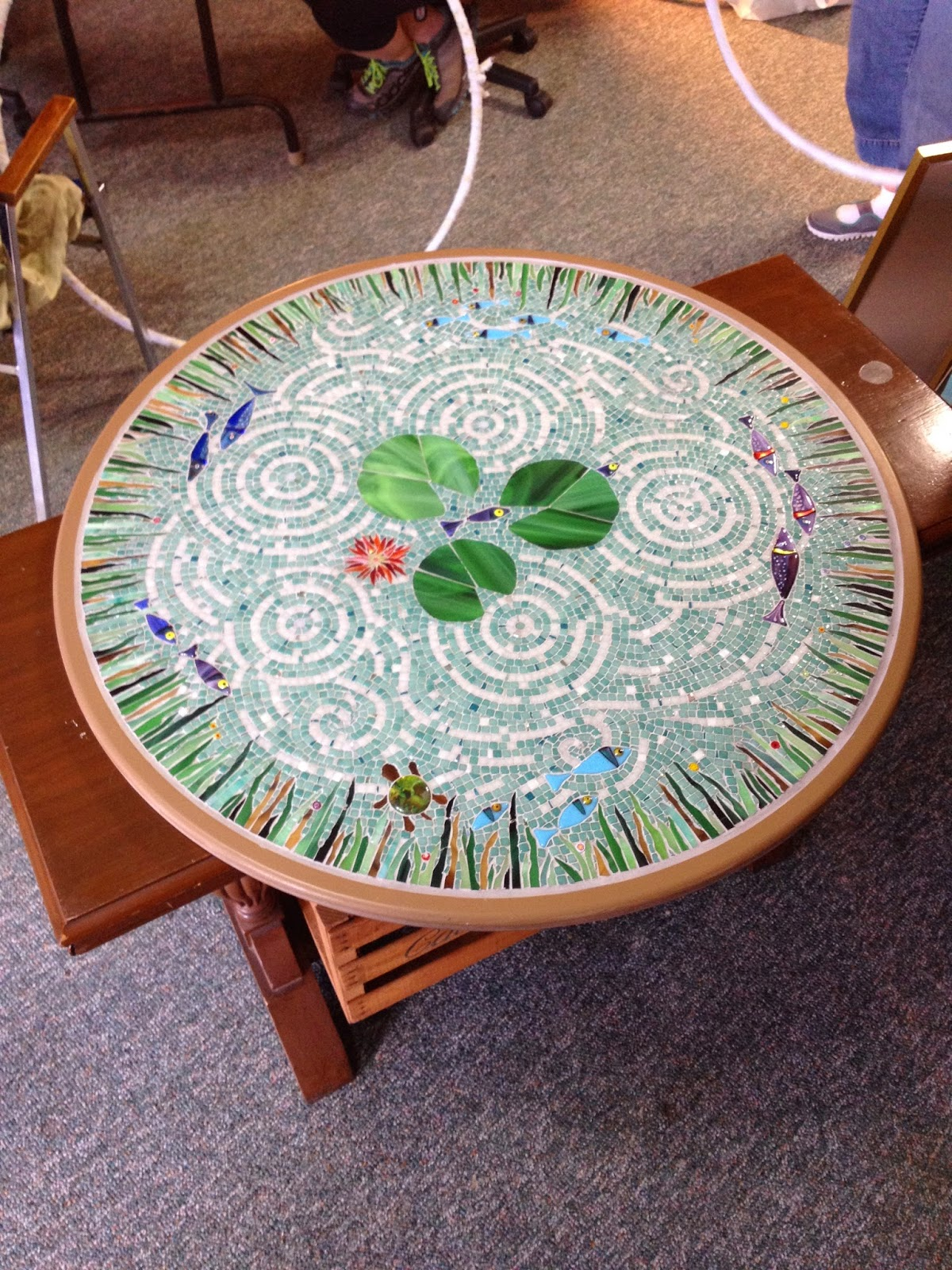 A work of art studio upcoming classes at a work of art studio for Koi pool table