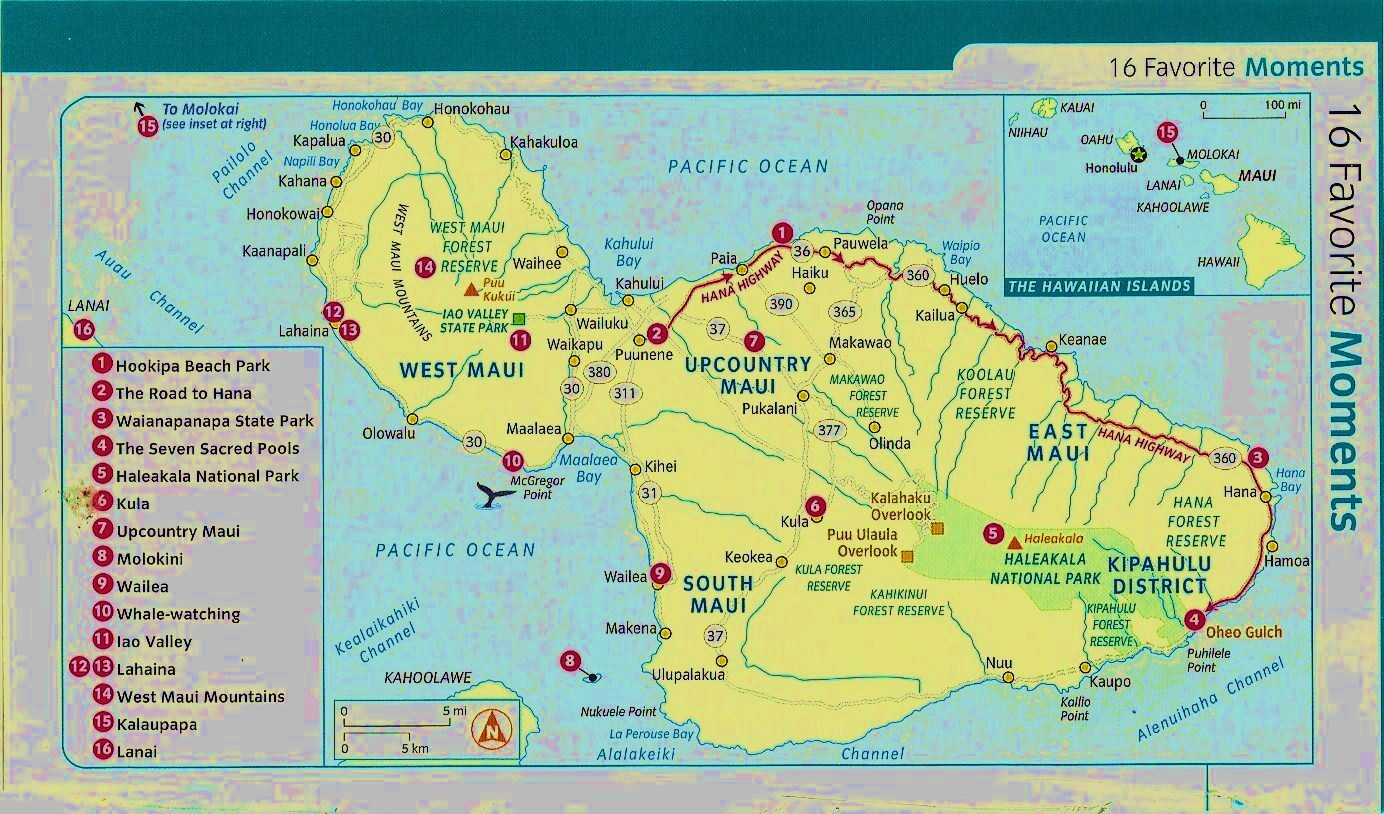 photo regarding Printable Map of Maui named Rosemary and Carols Highest Fantastic Experience.: Maps of Maui