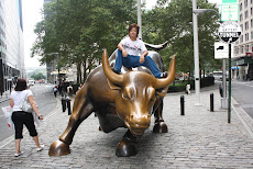 Riding Iron Bull in Wall Street, NYC, U.S.A.