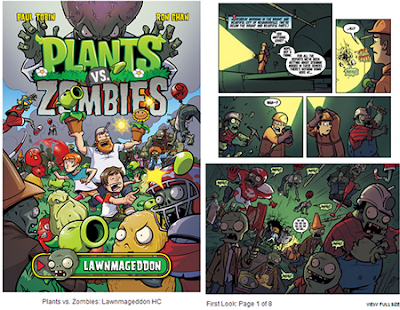 Primer comic del juego plants vs zombies