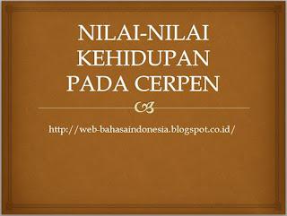 NILAI-NILAI KEHIDUPAN PADA CERPEN