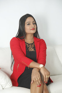 Yelli Fresh New telugu Actress in Spicy Short Black Skirt and Red Jacket