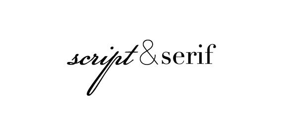 script and serif