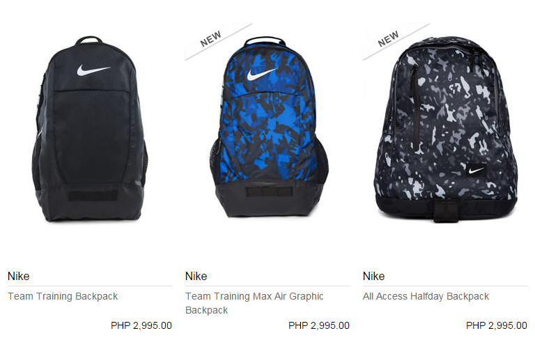 Get NIKE, VAN'S and JANSPORT BACKPACKS with FREE 15% OFF VOUCHER ...