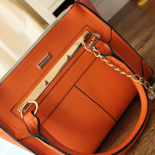 UK Lifestyle Blog - Orange River Island Chain Strap Bag