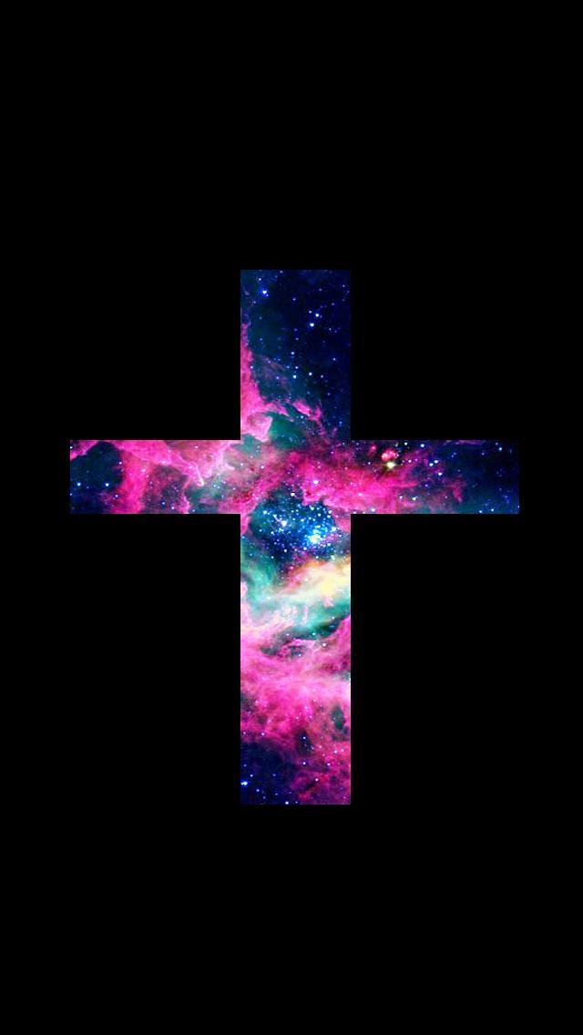 Lovedandsign: For Phone : Jesus Cross Galaxy Wallpaper
