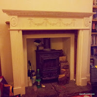 Fire surround from a skip