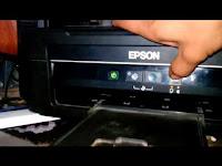 Cara reset tinta printer epson lampu merah berkedip