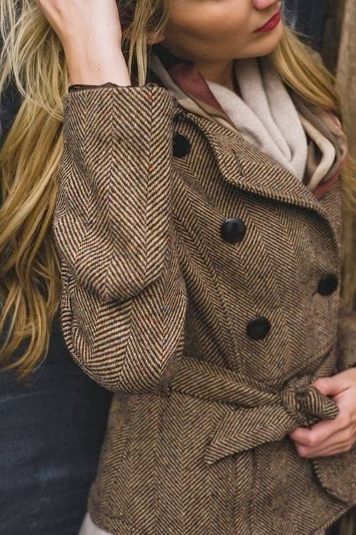 Adorable brown coat and scarf for fall