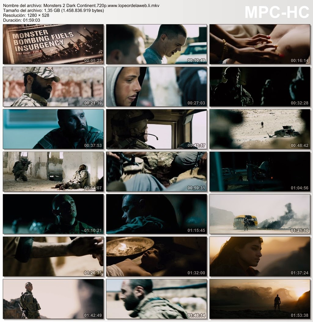 Monsters 2: Dark Continent (2014) WEB-DL 720p Subtitulada