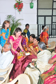 Susan and daughter at wedding in Bengaloru