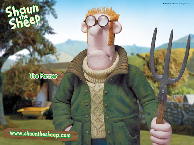 Download Gratis Wallpaper The Farmer - Shaun The Sheep
