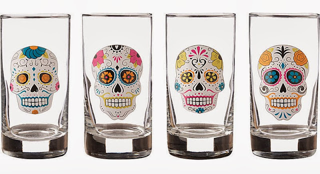 Dia De Los Muertos Day Of The Dead party idea glasses
