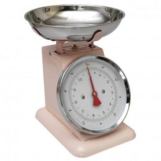 kitchen scales pink