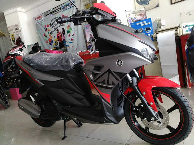 Yamaha Aerox 125 LC Warna Abu-abu Dop