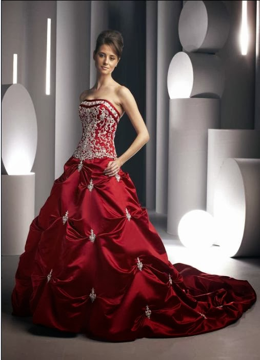 Beautiful Wedding Dresses Red