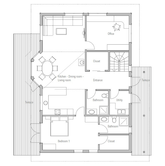 Affordable home plans affordable home plan ch34 Affordable floor plans