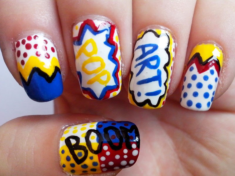 pop art nails