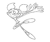 #4 Dexter Laboratory Coloring Page