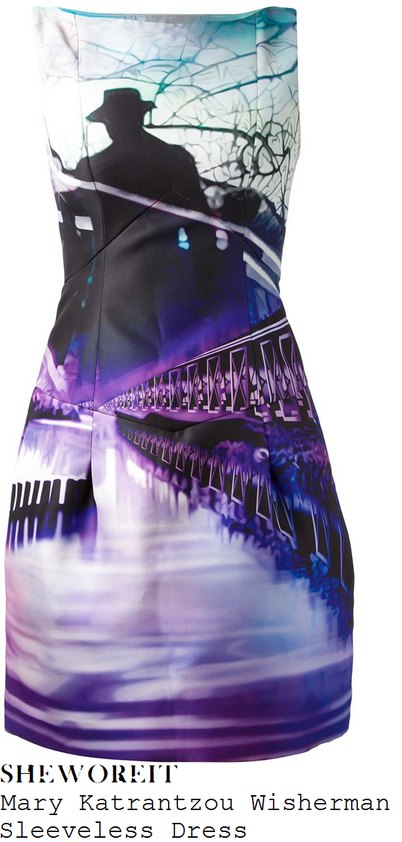 caroline-flack-scenic-sky-shadow-bridge-water-photo-print-dress-x-factor