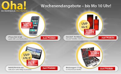 iPhone 3GS 16GB Weiß bei MeinPaket für 305 Euro inklusive Versandkosten