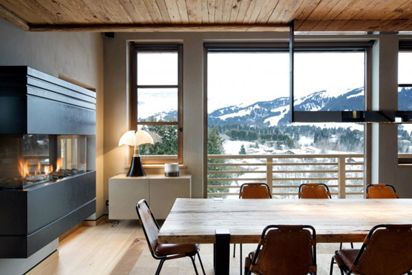 Diseño de interiores & arquitectura: cabaña en la montaña lujo en ...