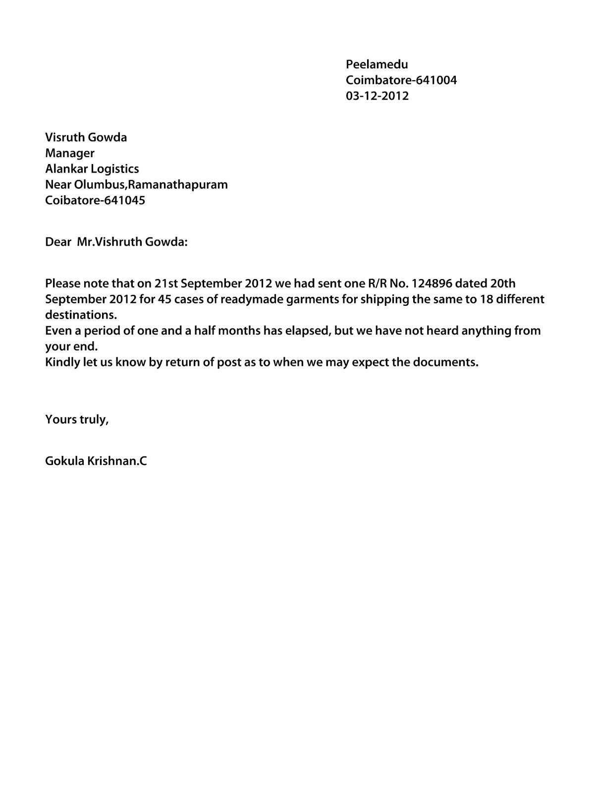 GOLDEN DAYS OF GOLD Business Letter Through Letter Generater