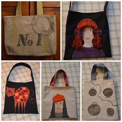 torebki szyte i malowane