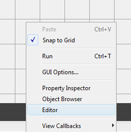 GUIDE editor option