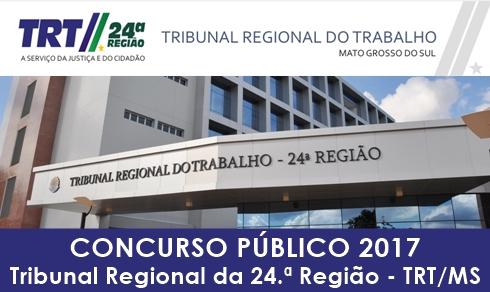 Apostila concurso TRT 24 MS 2017