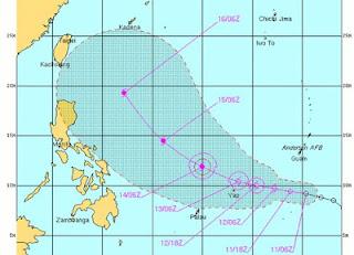 Taifun GUCHOL verschont die Philippinen voraussichtlich, Butchoy, Guchol, Taifunsaison, Taifunsaison 2012, aktuell, Juni, 2012, Vorhersage Forecast Prognose, Verlauf, Japan, China, Taiwan, Philippinen,