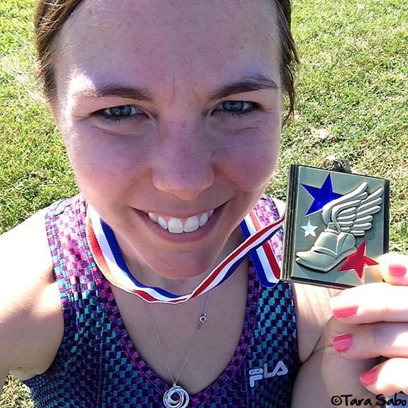 race medal, race bling, runchat, runner, tara sabo