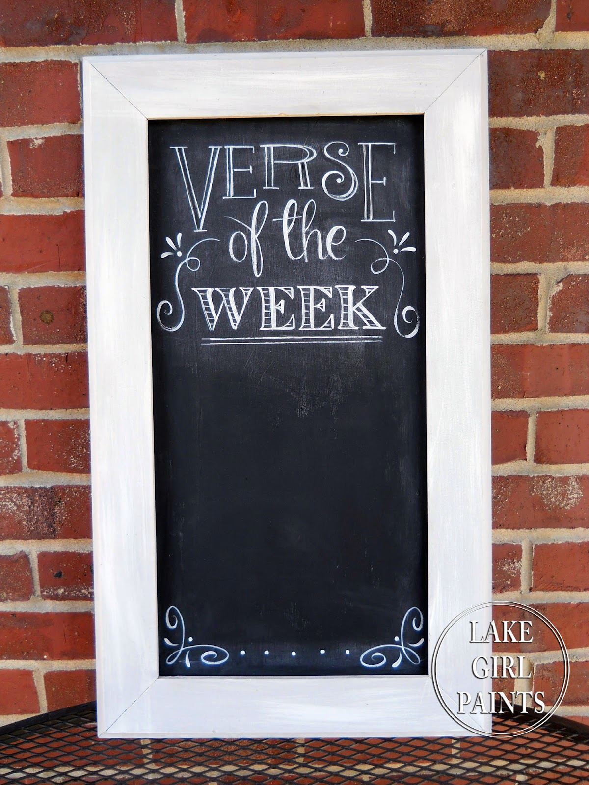lake girl paints chalkboard verse of the week rachel 39 s