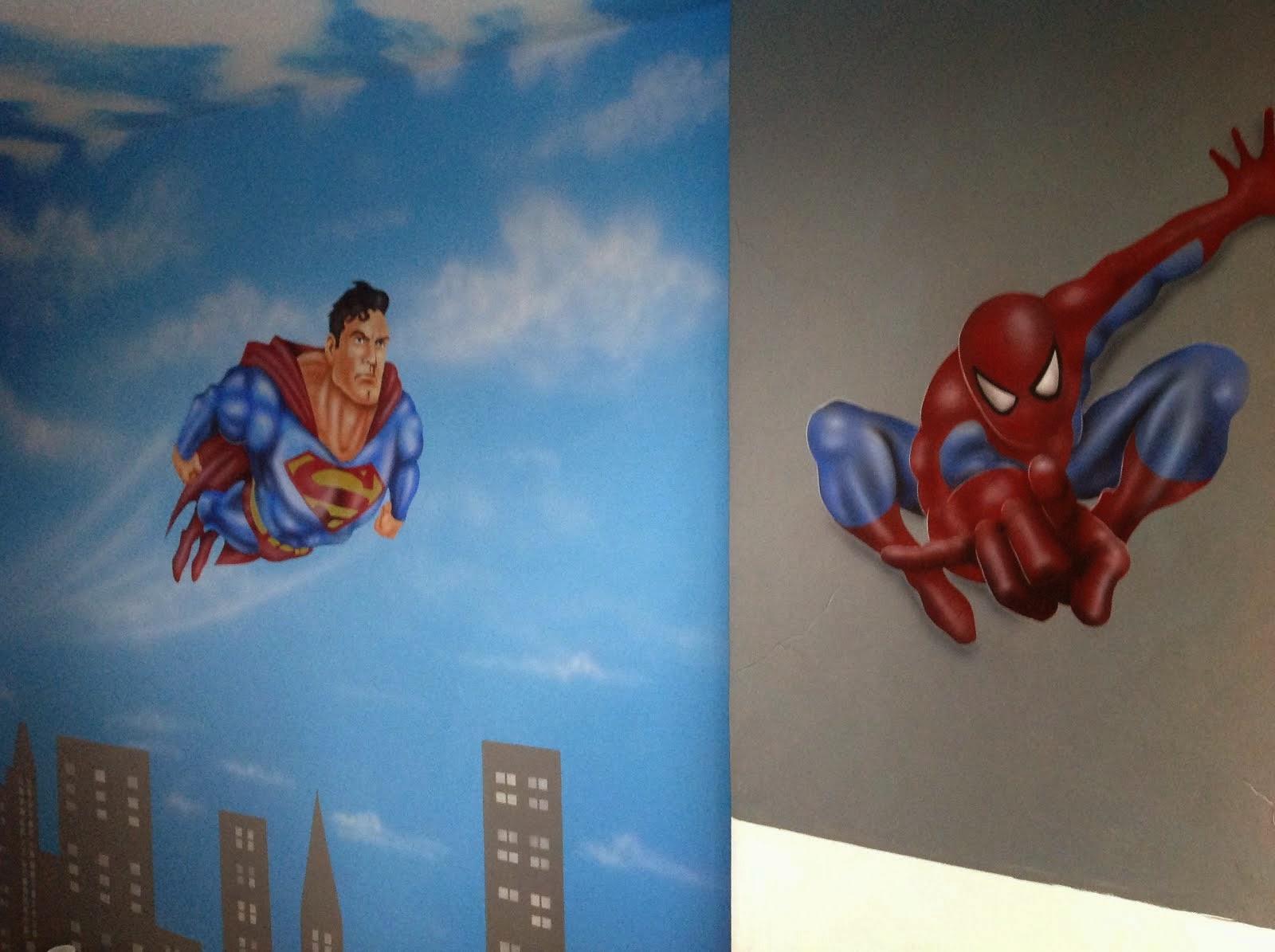 MURALES SUPER HEROES