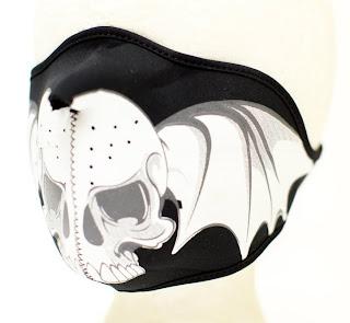 Skull Wings Face Mask