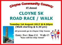 Flat fast 5k in E.Cork...Tues 1st Aug 2017