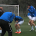Rangers FC ducks for cover after lightning strike (Video)