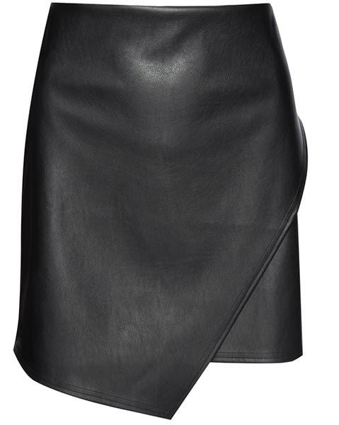 Primark ropa: falda en negro con efecto cuero