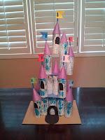 Toilet roll Cinderella castle craft, Disney World, Magic Kingdom, kids crafts