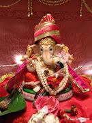 . widely worshiped Hindu God 'Ganesha' called as 'गणपती' in Marathi.