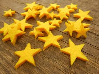filcowe gwiazdki żółte